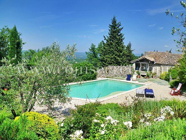 Location du0027une ancienne magnanerie à Chantemerle-les-Grignan, à - location vacances provence avec piscine