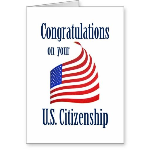 discount deals congratulations us citizenship us flag greeting