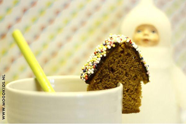 koekhuisje maken, ontbijkoek, diy, koken met kinderen, huisje van koek