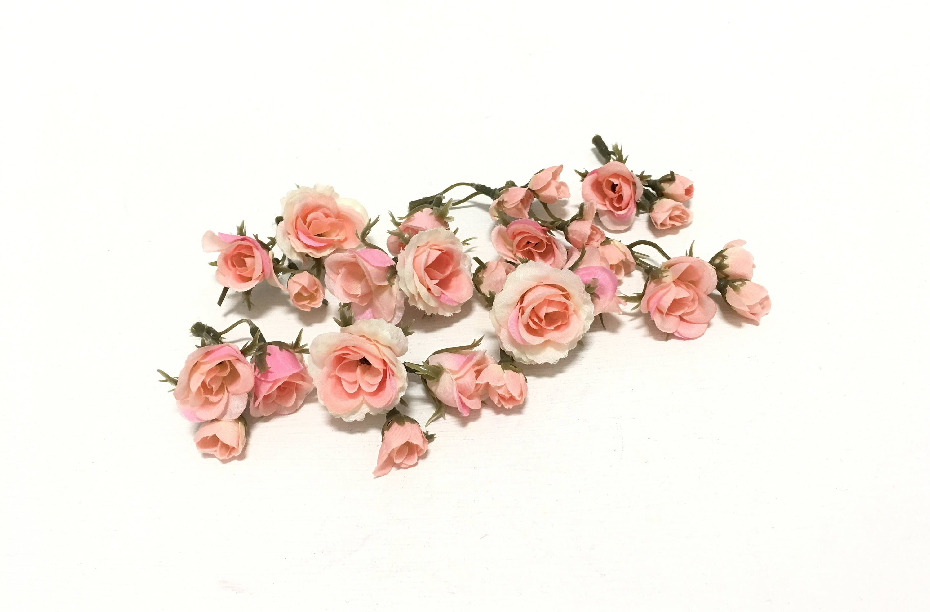 27 tiny peachy pink blush mini artificial roses silk flowers 27 tiny peachy pink blush mini artificial roses silk flowers artificial flowers flower mightylinksfo Gallery