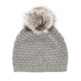 Cozy neutrals with Bluefly | Wyatt Knit Wool Blend Hat, was $55, now $30