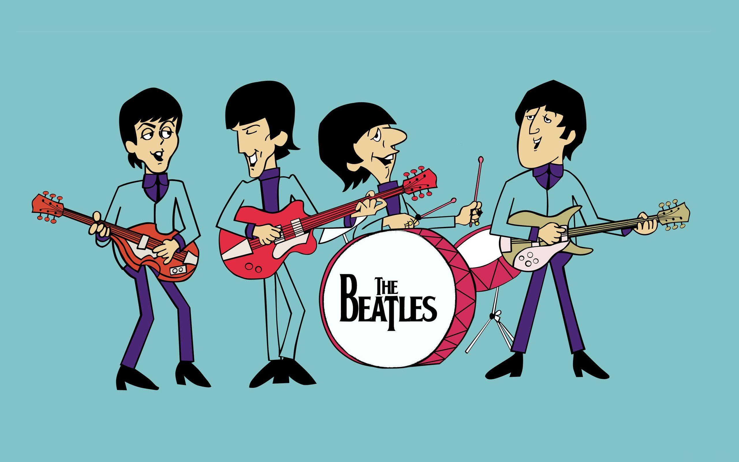 The Beatles Cartoon Wallpaper Music Pinterest