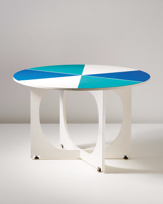 Gio Ponti; Lacquered Wood Drop-Leaf Table from the APTA Series, 1970.