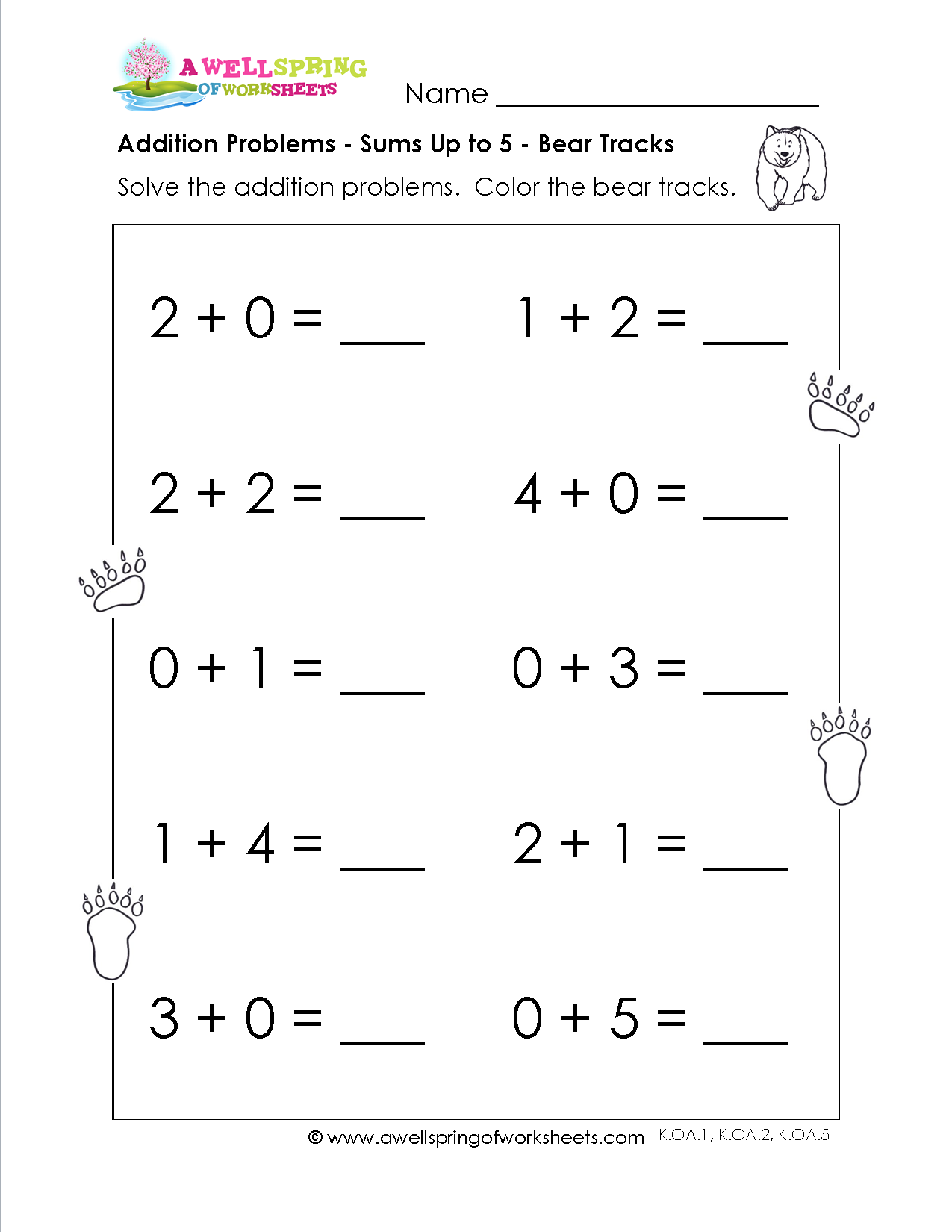 Grade Level Worksheets Kindergarten Addition Pinterest