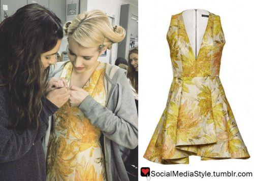 Emma Roberts Scream Queens Yellow Floral Print Dress Yellow Floral Print Dress Scream Queens Fashion Scream Queens