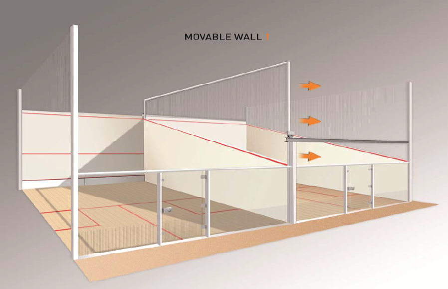Movable Doubles Squash Court In India Squash Pinterest