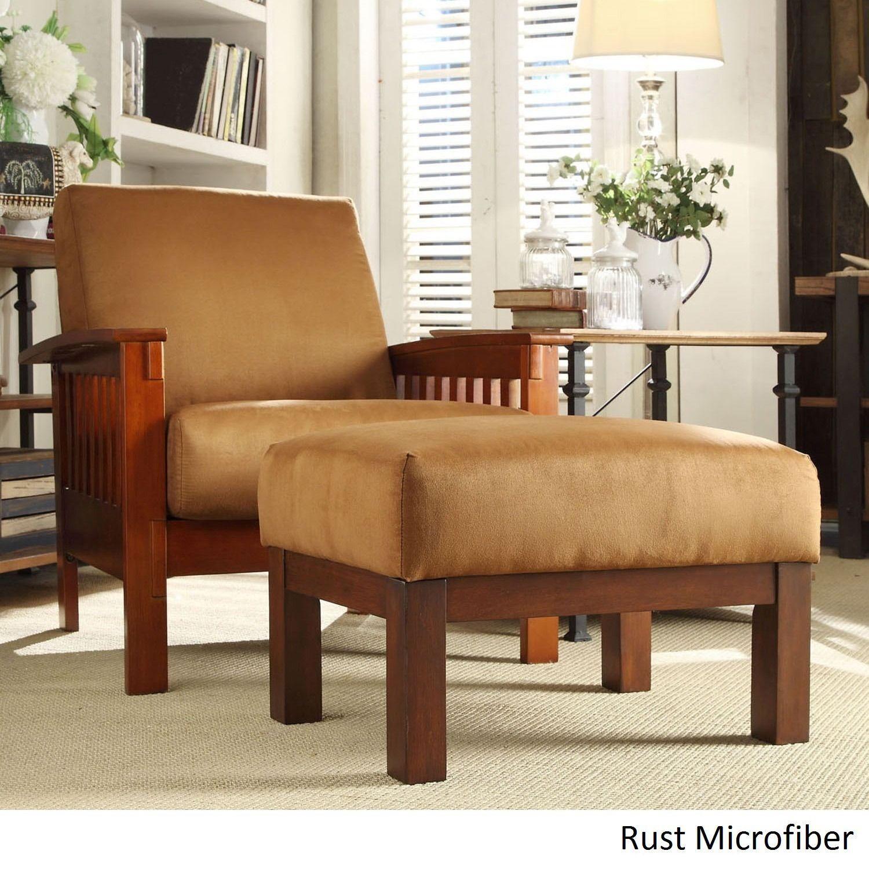 Park Art My WordPress Blog_Rust Accent Chair With Ottoman