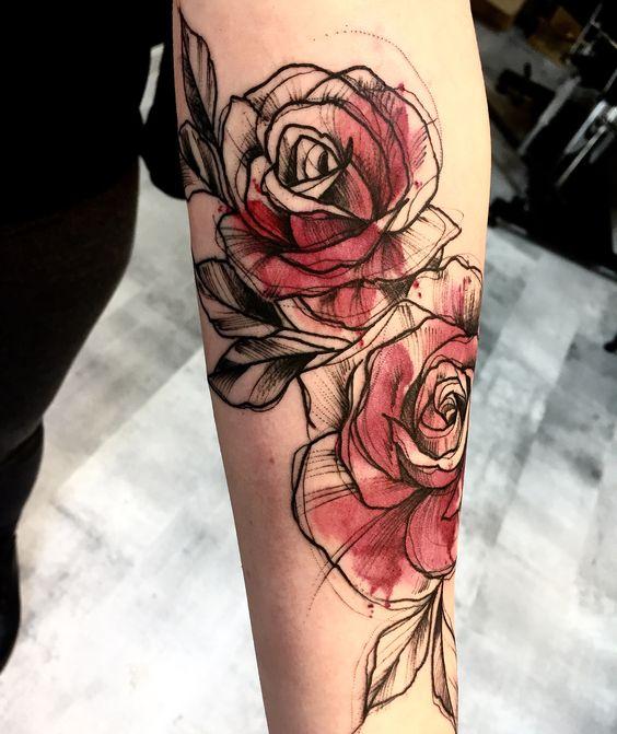 148 Tatuajes De Rosas Hombre Y Mujer Por Partes Del Cuerpo Tatuajes De Rosas Tatuajes De Rosas Para Hombres Tatuaje De Rosas En Acuarela