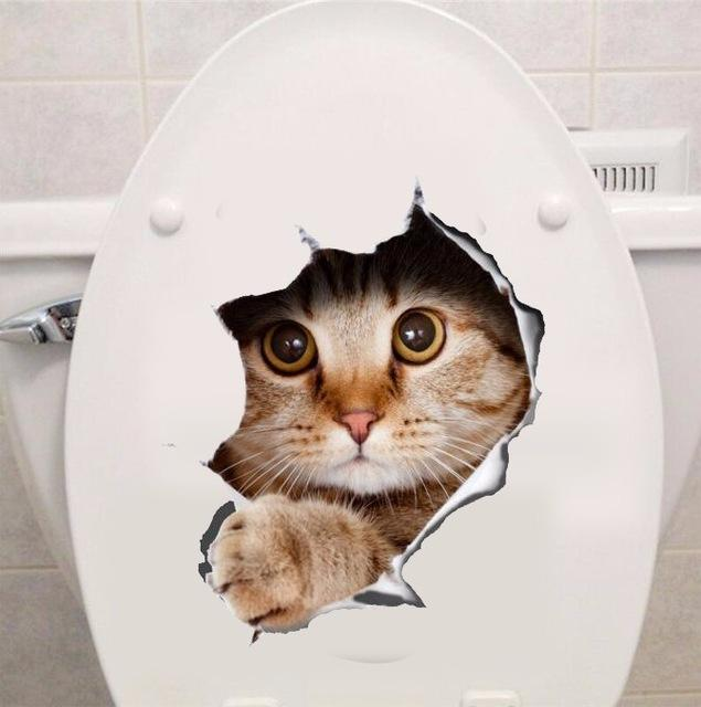 CAT FRIDGEWALLTOILET STICKER DECAL Alzovagadgets Pet - Vinyl decal cat pinterest