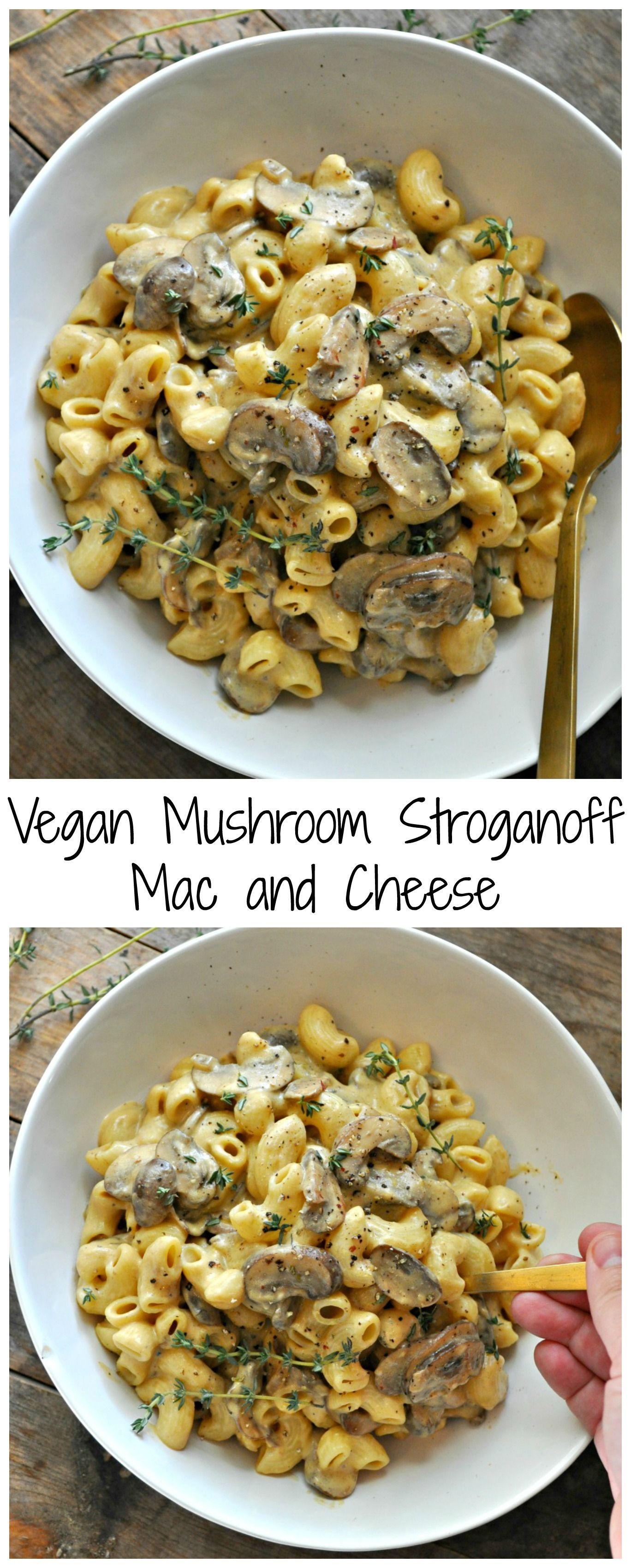 Vegan Mushroom Stroganoff Mac And Cheese
