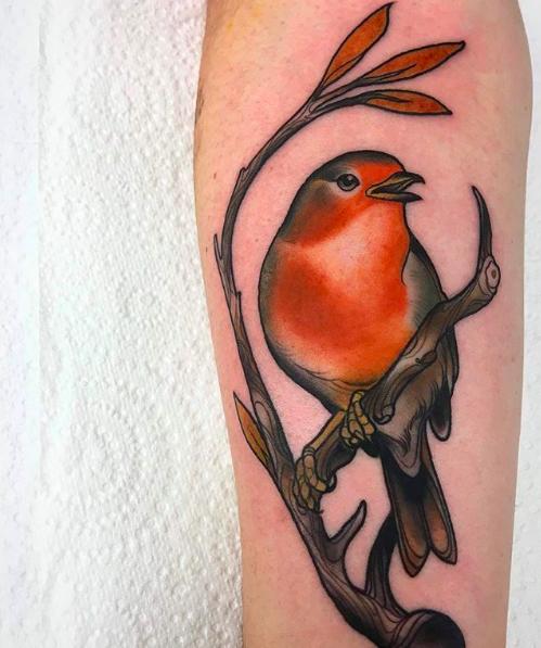 Patrick John Stone Heart Body Art Flying Bird Tattoo Birds Tattoo Robin Bird Tattoos