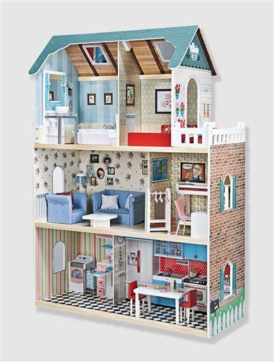 Latest maison de poupes en bois amanda family multicolore - Vertbaudet cuisine en bois ...