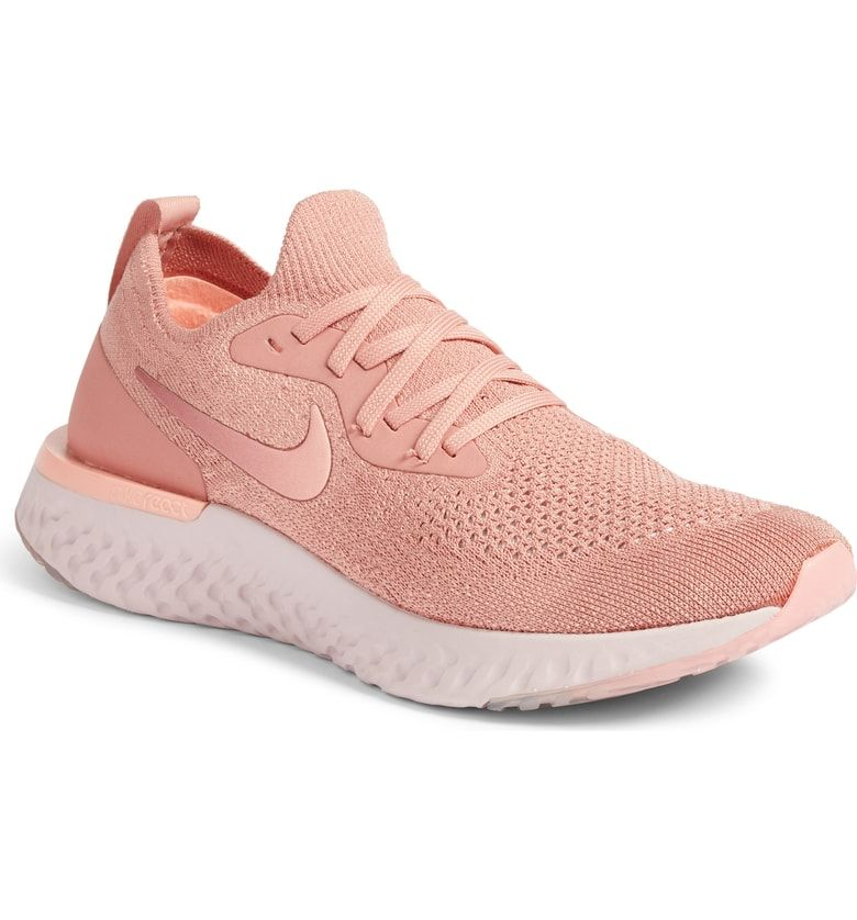 quality design 4c7aa b6c52 Nike Epic React Flyknit Running Shoe, Main, color, Rust Pink/ Pink Tint/  Pink