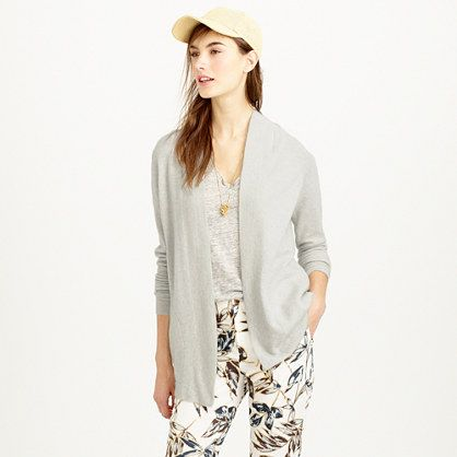 J.Crew - Collection cashmere long open cardigan sweater | Warm ...