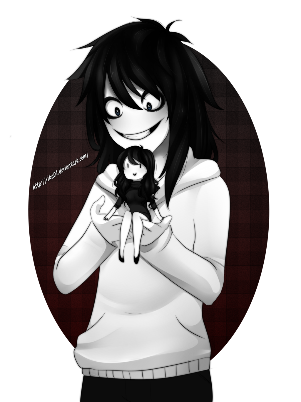 Jeff and Jane the killer and this is a better ship then gay ships -.-