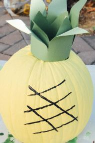 Fruit Decorated Pumpkins - Style Me Pretty Living