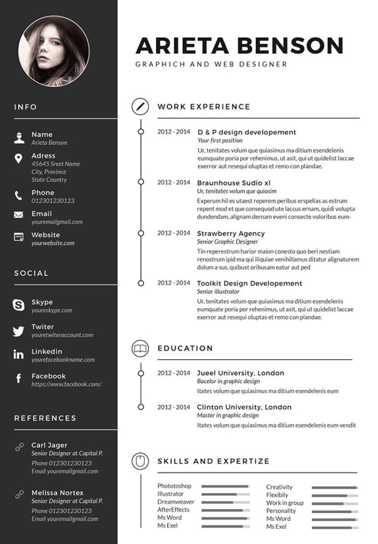 Clean Cv Resume Graphic Design Resume Resume Design Template Cv Design Template