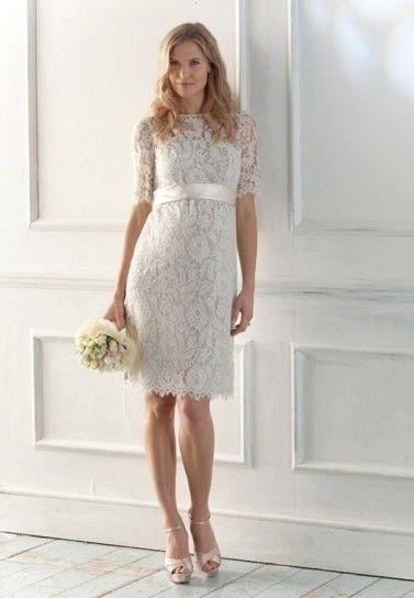 Abiti Da Sposa Civile.Abiti Da Sposa Per Matrimonio Civile Short Lace Wedding Dress