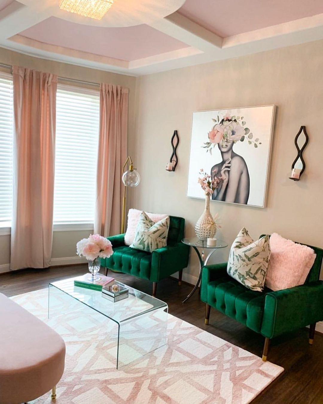 Pin By Maci Ardoin On Spa Art In 2020 Living Room Decor Apartment Pink Living Room Living Room Green