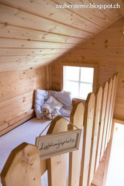 spielhaus mit galerie kinder spielhaus garten haus einrichtung ideen selber bauen. Black Bedroom Furniture Sets. Home Design Ideas