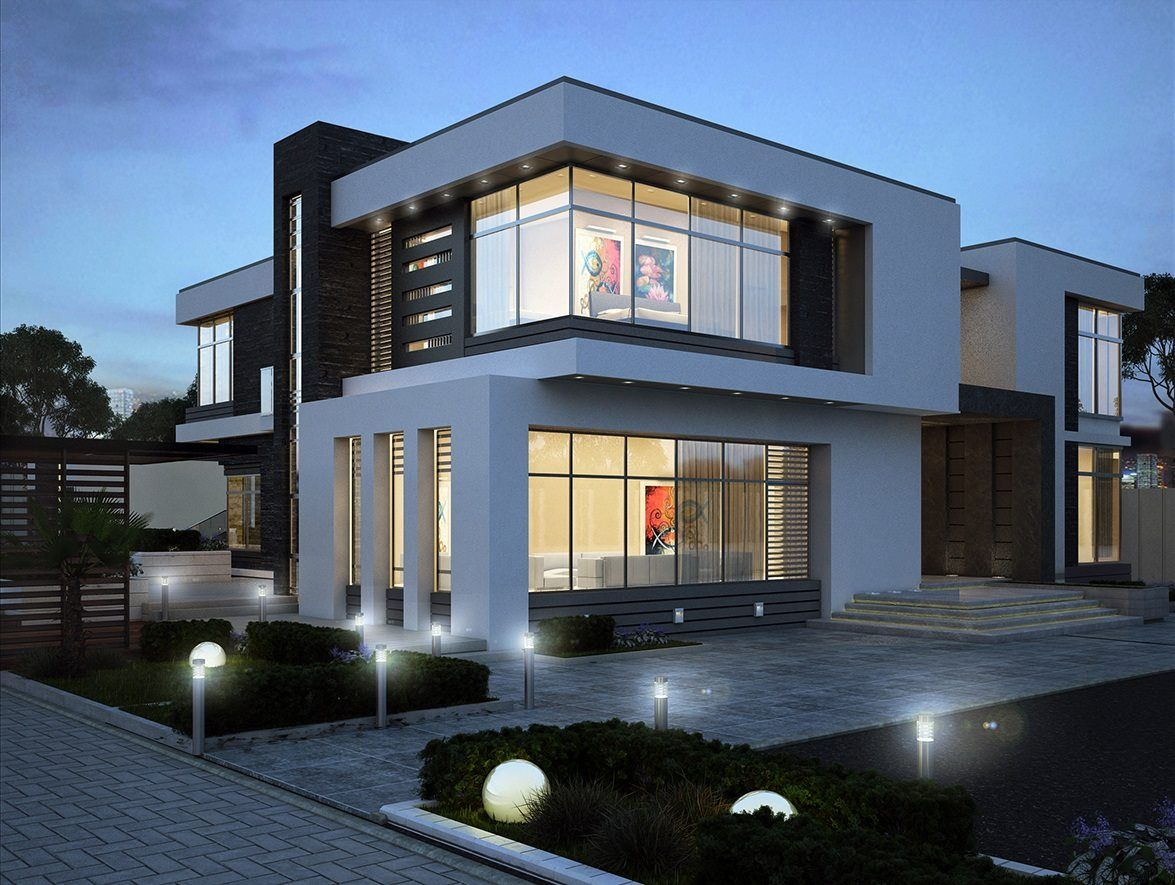 Modern villa in uae plans re pinned by http www for Modern house uae