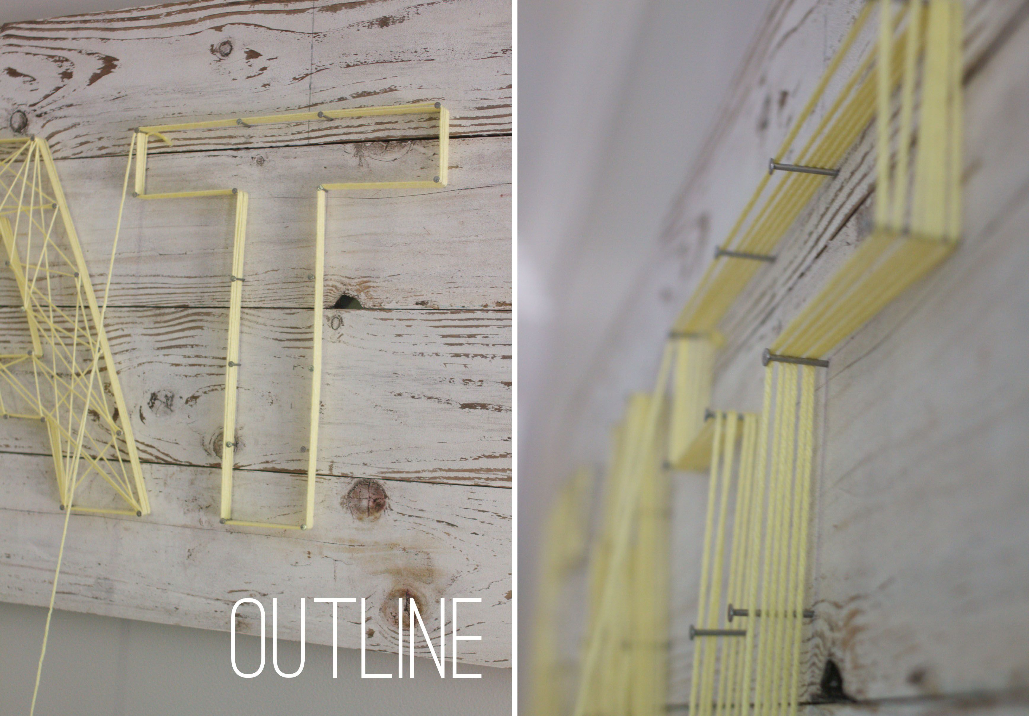 Outline string art diy crafts that i love pinterest string worn white wood boards decoration with popular string art technique became a beautiful dining room accent by yvonne of dress this nest fascinating solutioingenieria Images