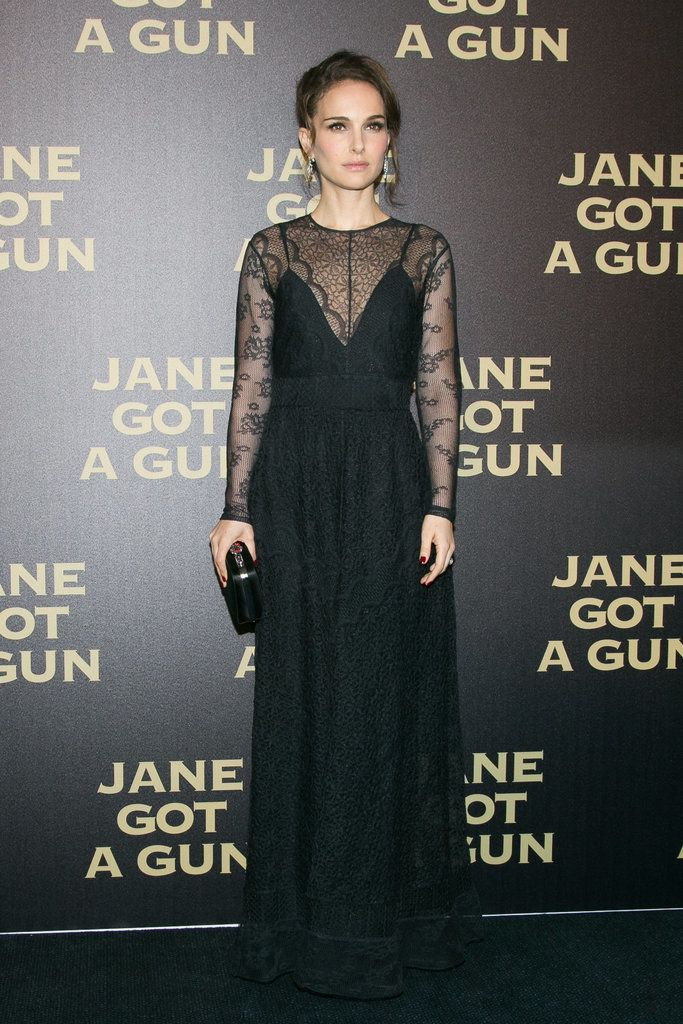 8c911620c314 Natalie Portman Makes Black Lace the Most Modest — and Chic — Red ...