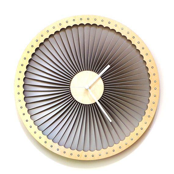 Turbina madera reloj de pared plástico arte de pared por ardeola
