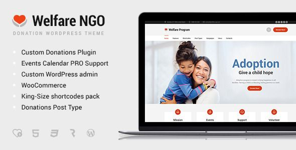 welfare ngo nonprofit organization charity theme welfare has features such as high resolution