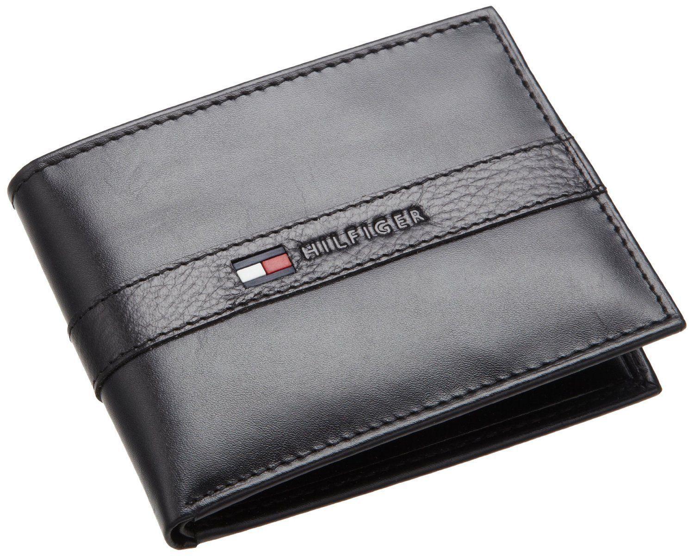 Tommy Hilfiger Men Leather Bifold Credit Card Pocketbook Wallet Black 31tl22x062 Mens Black Leather Wallet Leather Credit Card Wallet Bi Fold Wallet