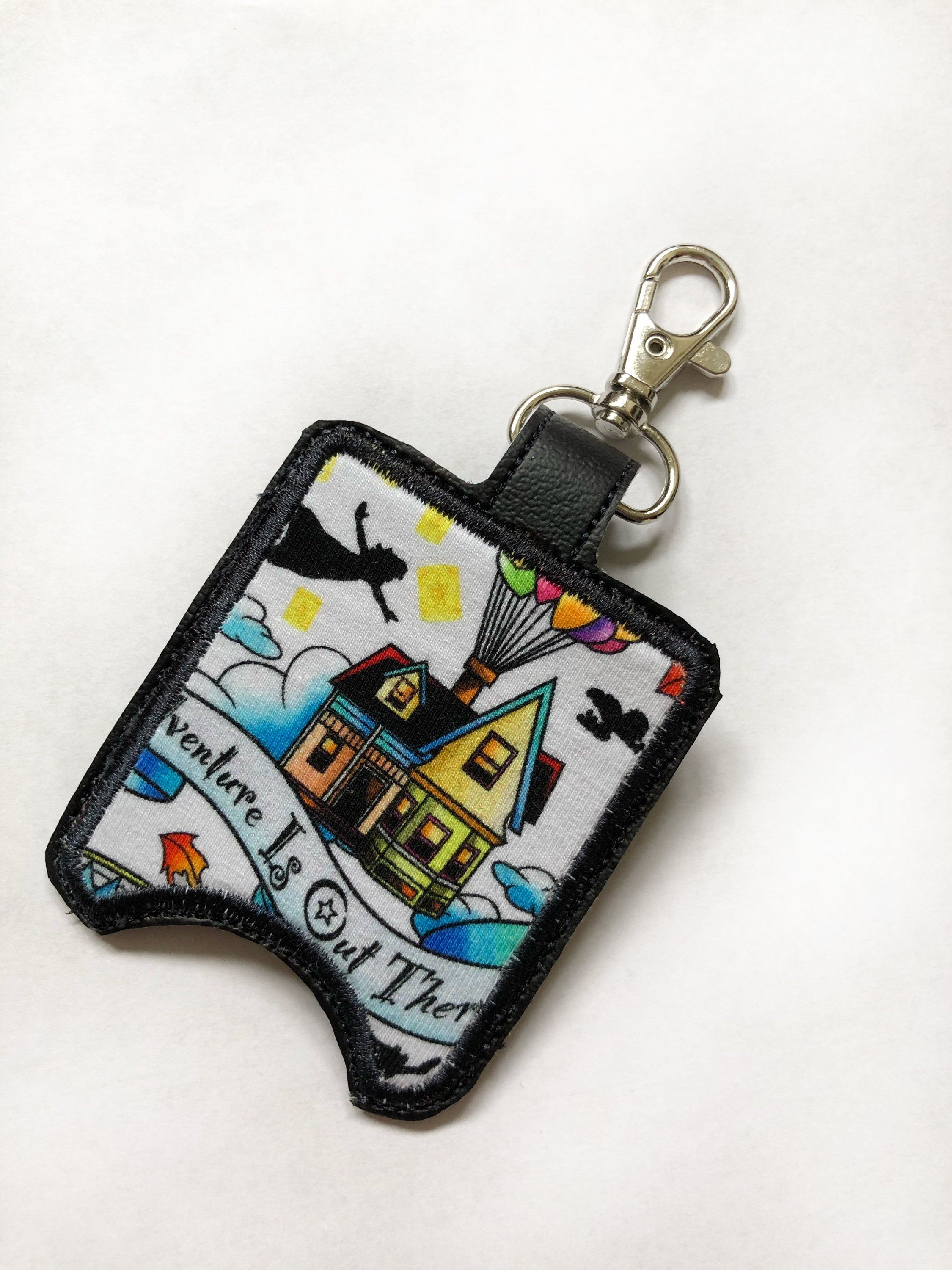 Disney Inspired Hand Sanitizer Holders Peter Pan Up Keychain