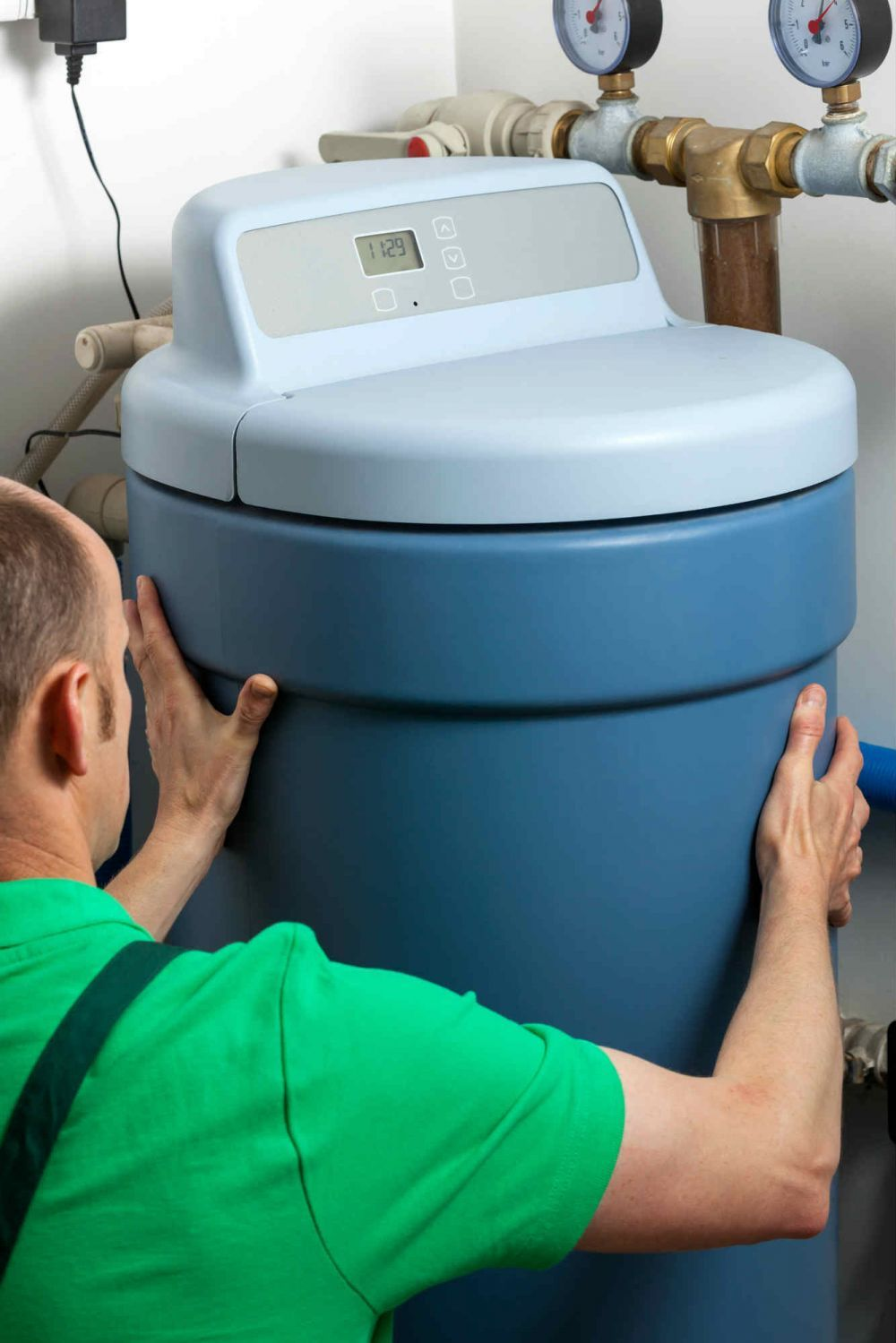 My best friend wants to add a water softener to her home