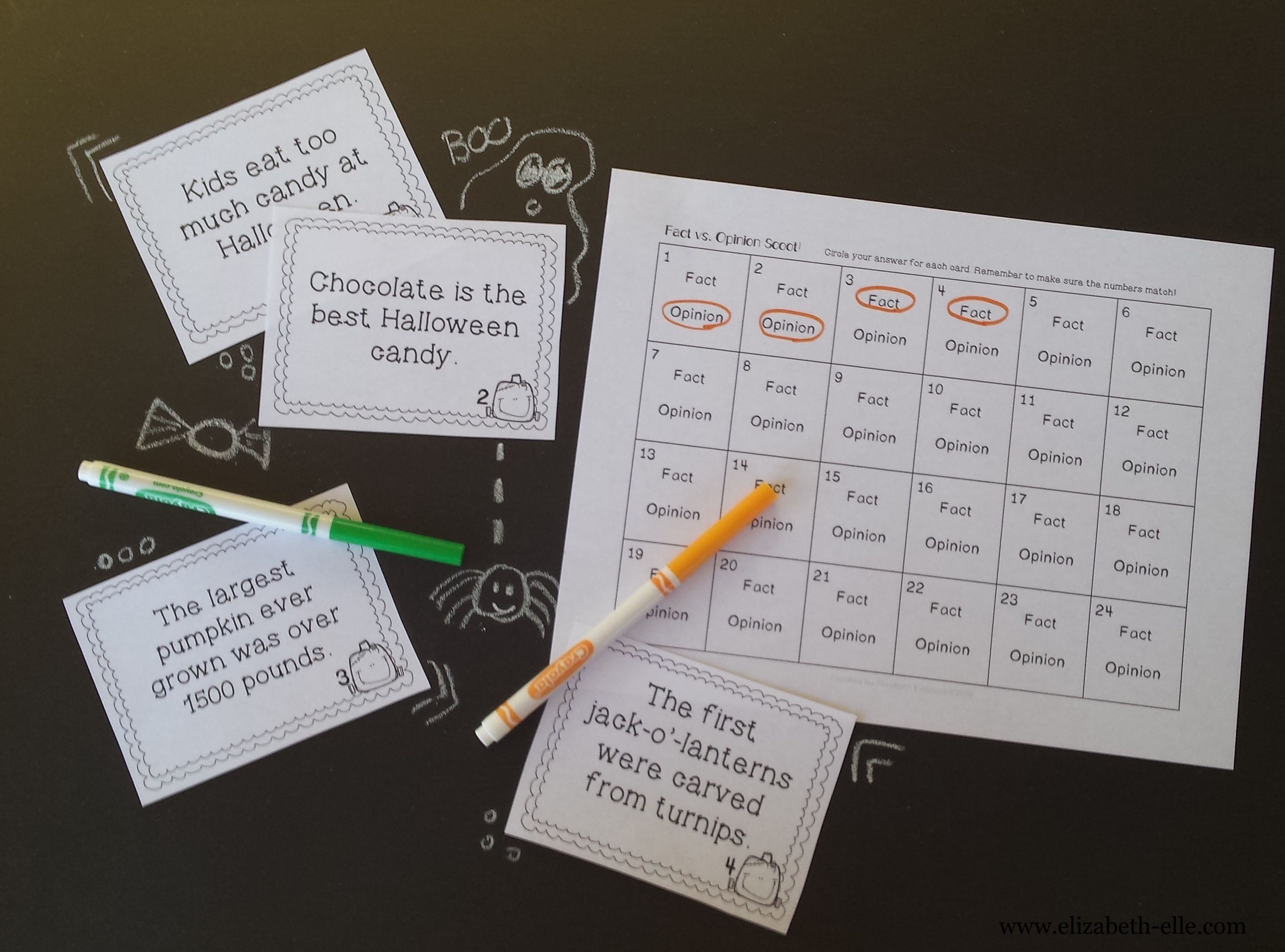 worksheet Fact Opinion Bias Worksheet halloween fact and opinion scoot facts activities taskcards factandopinion bias
