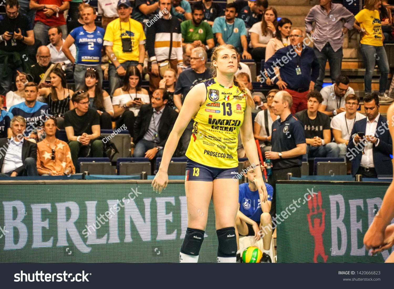 Berlin Germany May 21 2019 Croatian Volleyball Player Samanta Fabris Part Of The Imoco Volley Conegliano Italian Women S Volleyball Club During The Cev