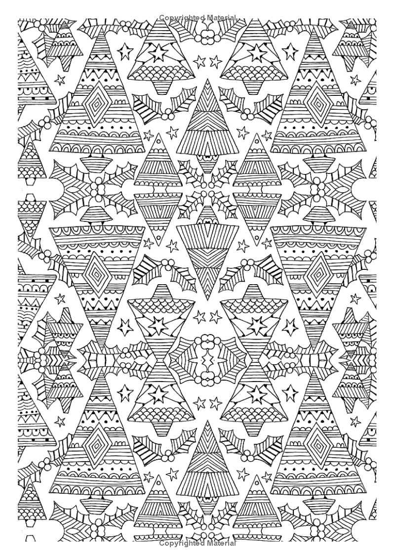 Christmas Patterns Creative Colouring For Grown Ups Amazon Co Uk Various Authors Various Illustrators 978178 Christmas Pattern Coloring Pages Winter Color