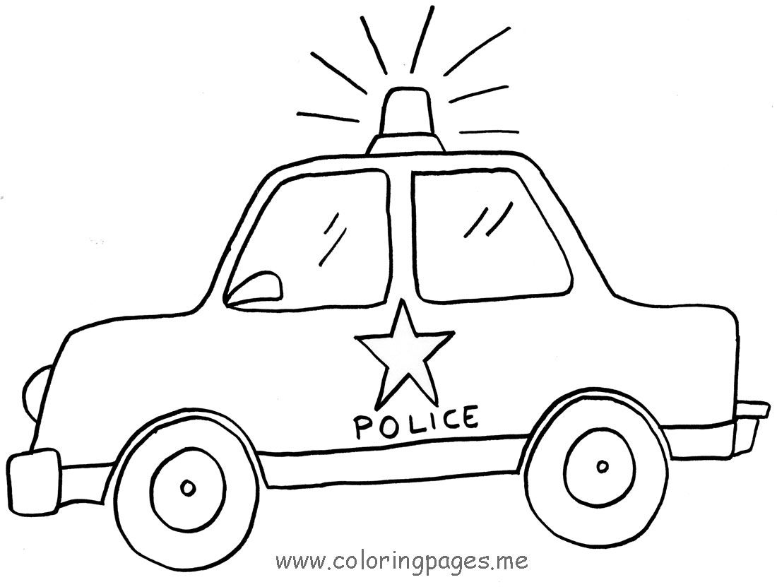 Printable coloring pages car - Police Car Coloring Pages Printable 02