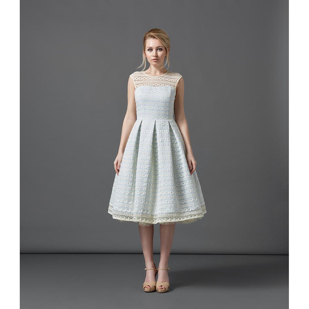 Harlow baby blue occasion dress vintage style dresses for Lindy bop wedding dress