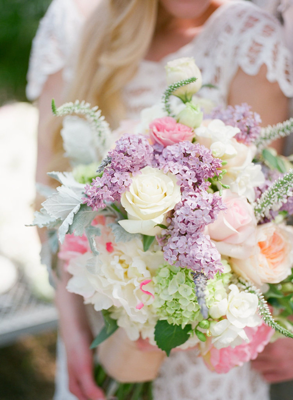 Springtime Florals Soft Wedding Bouquet Pastel Pink And Cream