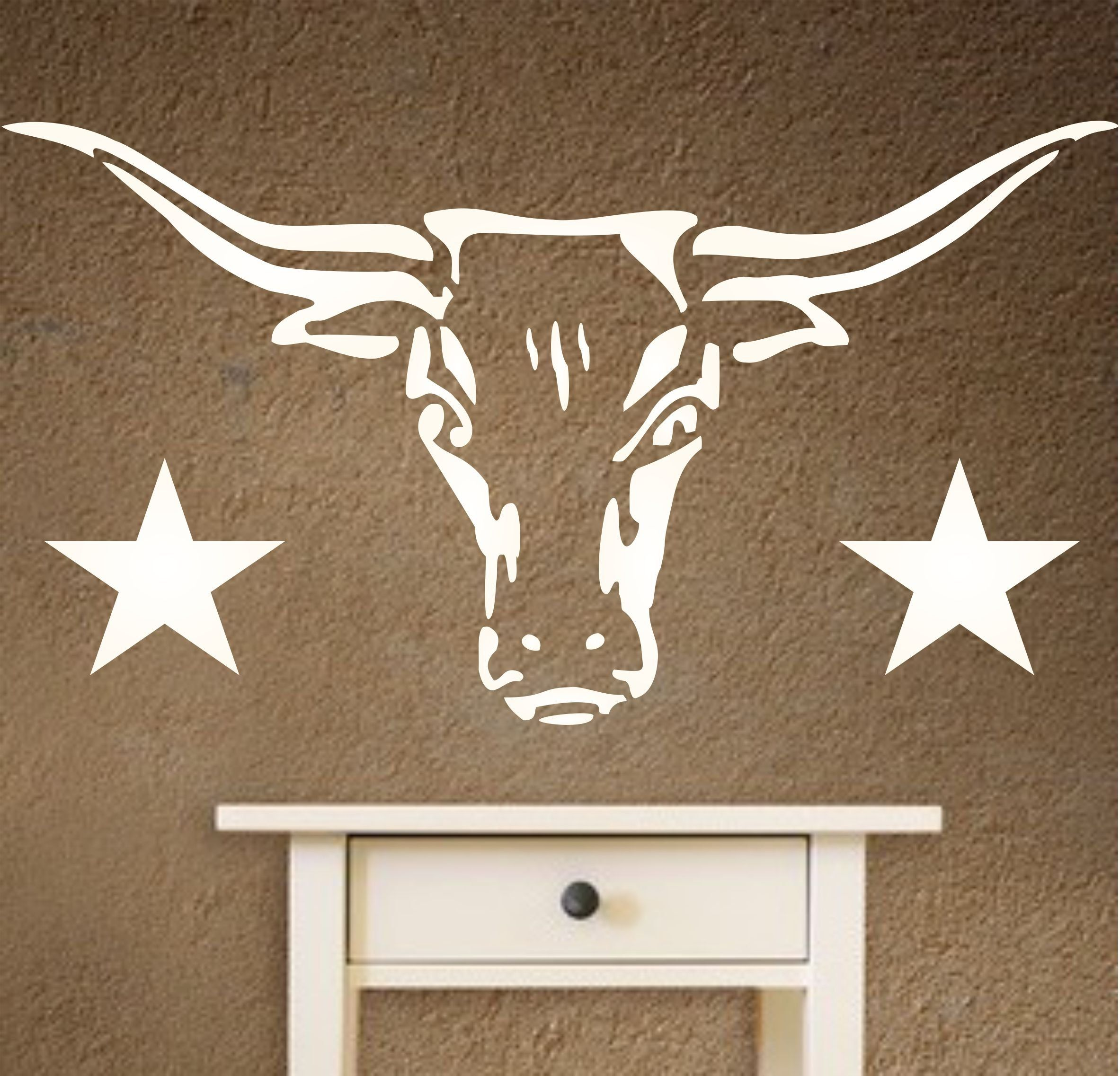 Longhorn stencil size 12w x 65h reusable wall stencils for longhorn stencil size 12w x 65h reusable wall stencils for amipublicfo Choice Image