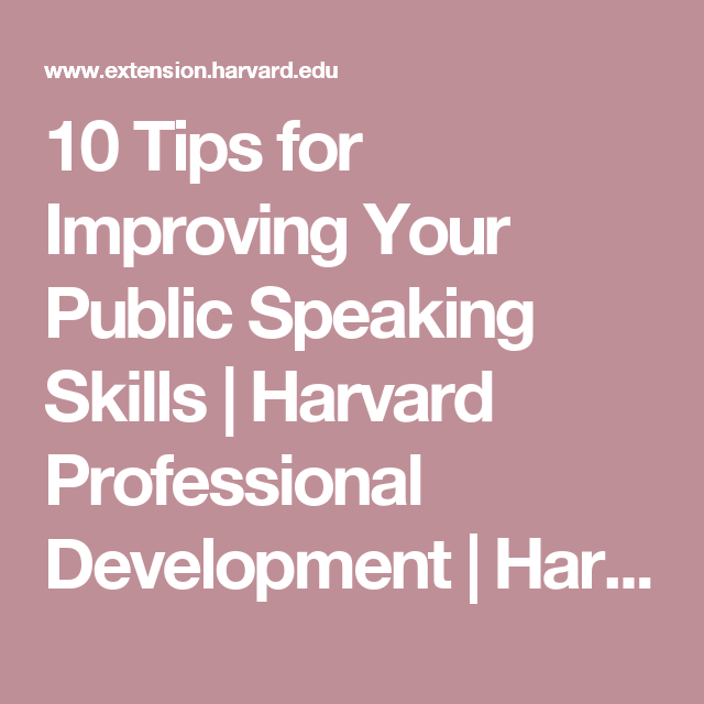 10 tips for improving your public speaking skills