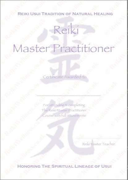 Personalised Complete Set Reiki Certificates Templates x4