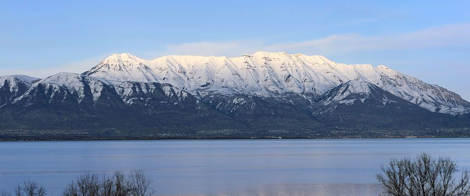 Utah Lake with Timp in background