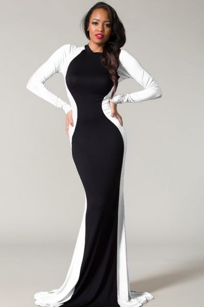 790f6ae596c82 Shop Kami Shade  - Plus Size Glam Rock Black. white maxi dresses ...