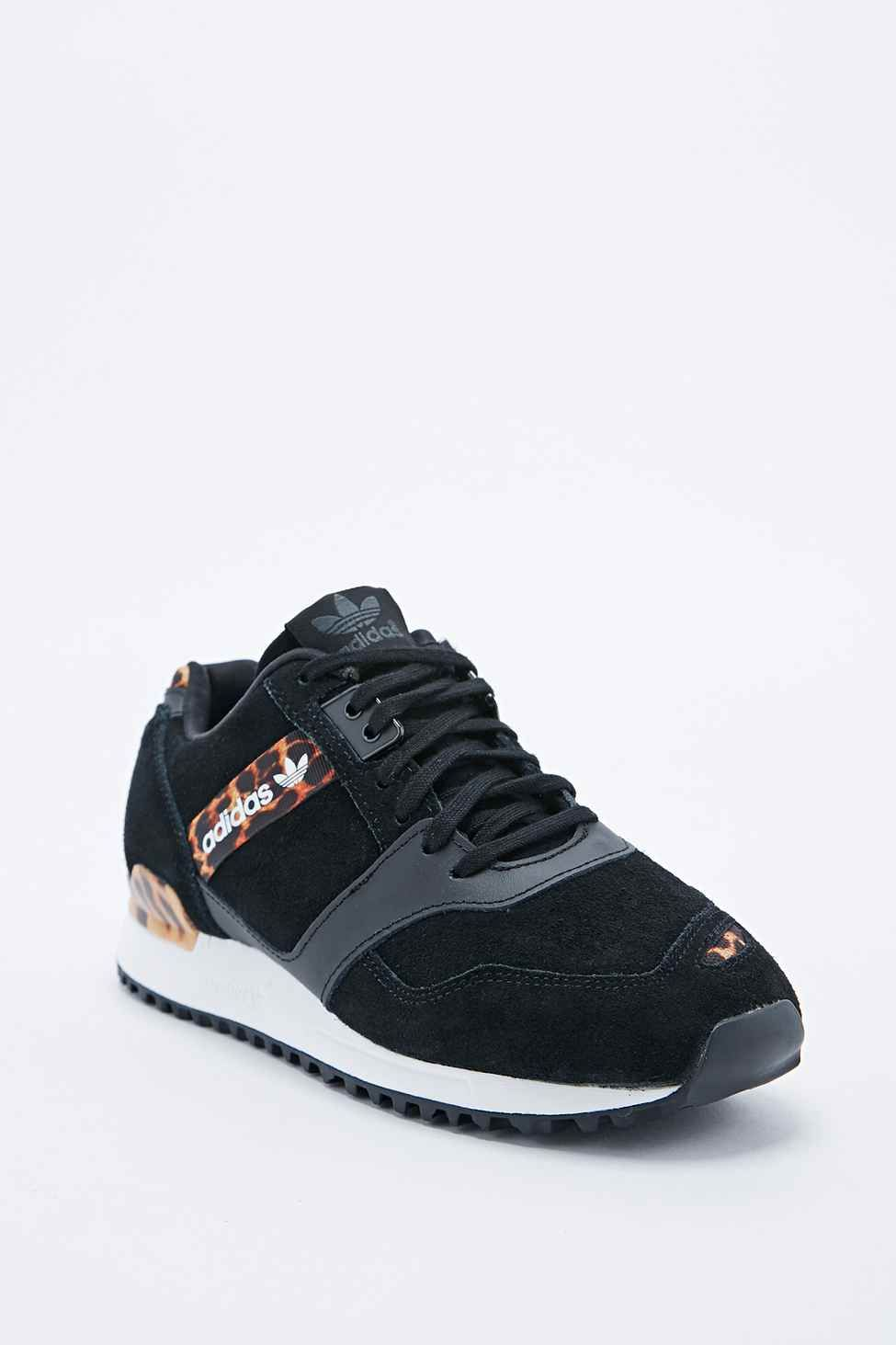 e8cb8f35c adidas ZX 700 Trainers in Leopard Print and Black