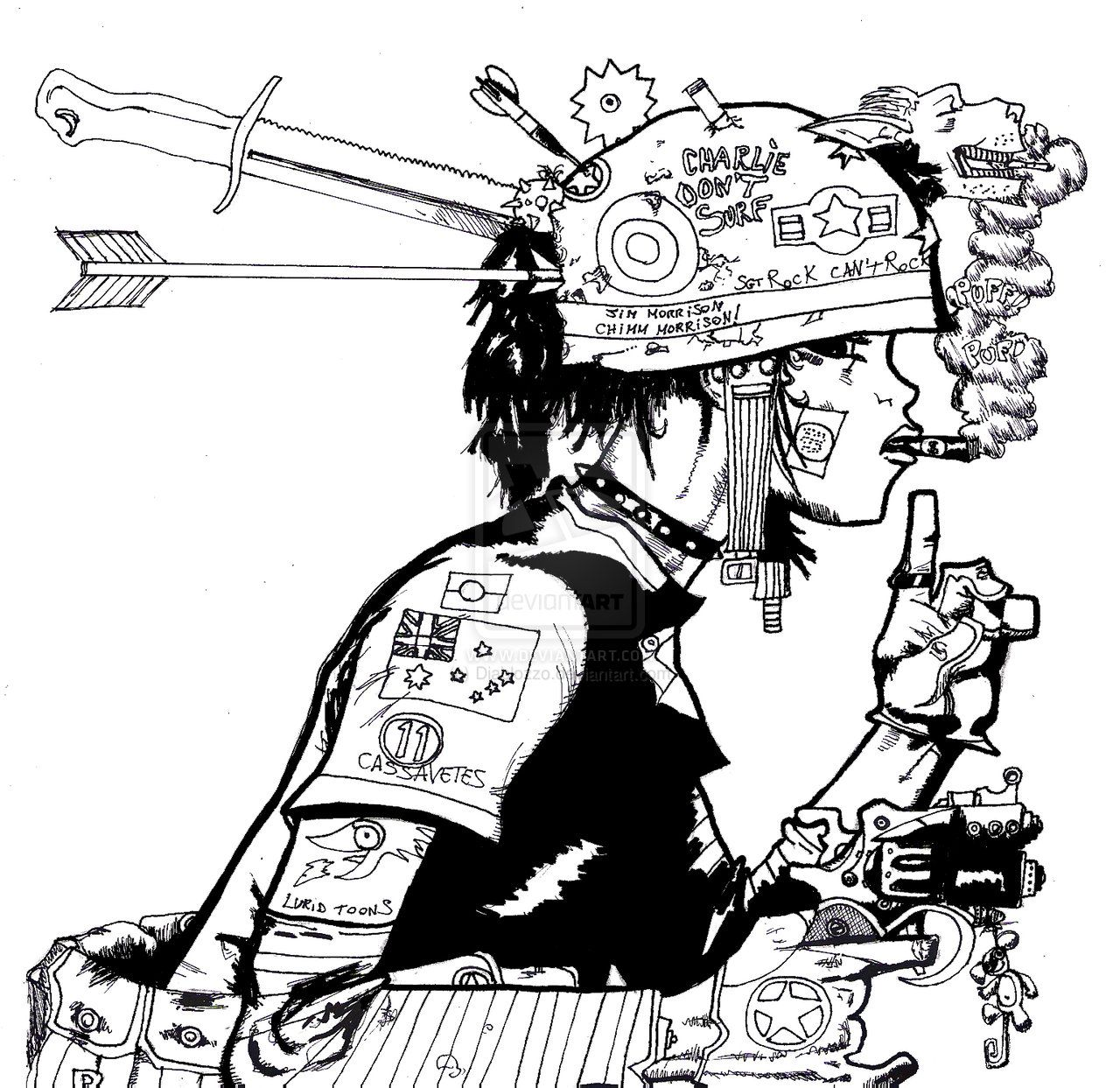 tank girl coloring page - Google Search | A curated group of ...