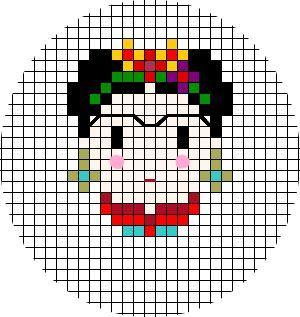 Projet de bricolage n ° 17: une broderie Frida Kahlo   – sticken