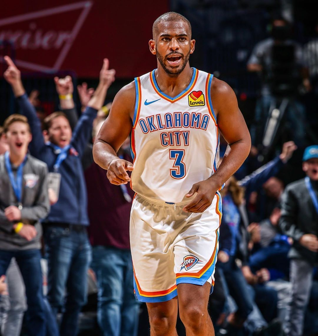 Oklahoma City Thunder On Instagram Chris Paul Is A Very Bad Man 9 10 From The Field 6 7 From Downtown Chris Paul Oklahoma City Thunder Oklahoma City