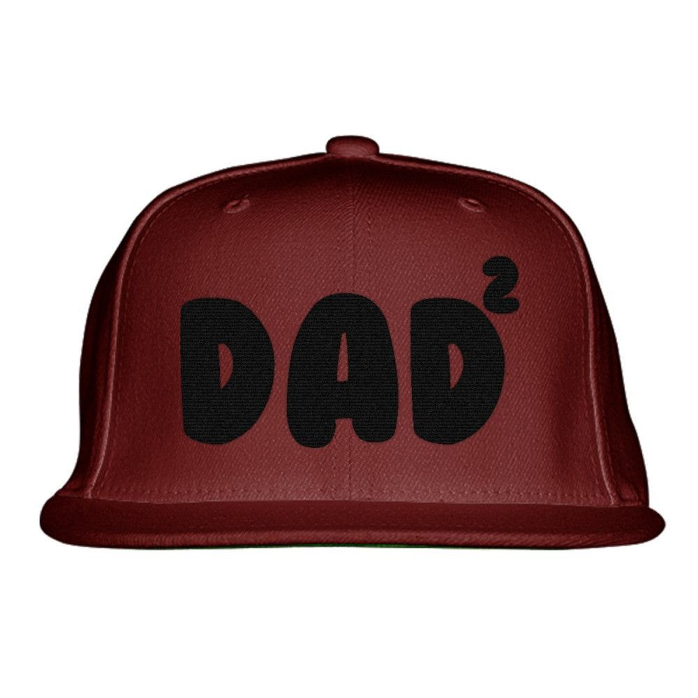 Dad Of 2 Embroidered Snapback Hat