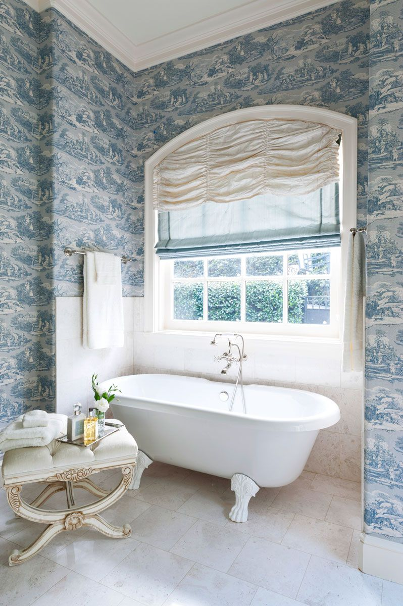 Decorating Ideas for Blue-and-White Bathrooms | Traditional Home ...