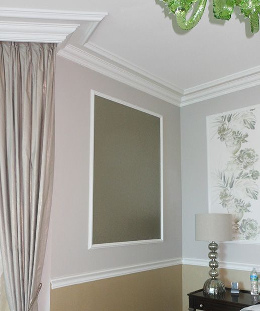 Large Crown Molding And Lexington Crown Molding Crown Molding In Bedroom Wall Decor Bedroom Small Space Interior Design